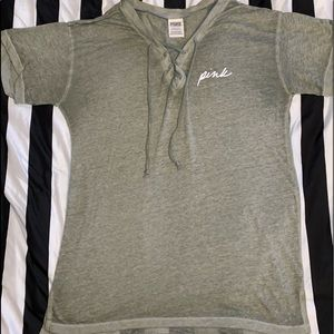 Pink by Victorias secret size xs green shirt